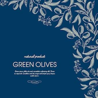 Sjabloon voor abstracte olijfolie