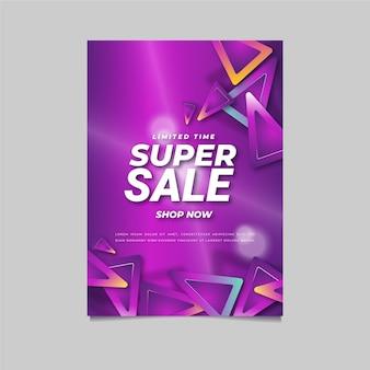 Sjabloon voor abstracte verkoopposter met verloop