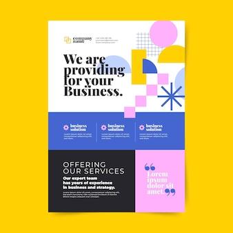 Sjabloon voor abstracte verticale zakelijke flyer met kleurovergang
