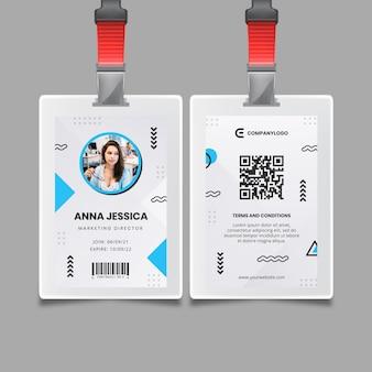 Sjabloon voor algemene zakelijke identiteitskaarten Gratis Vector