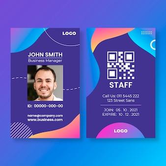 Sjabloon voor algemene zakelijke identiteitskaarten