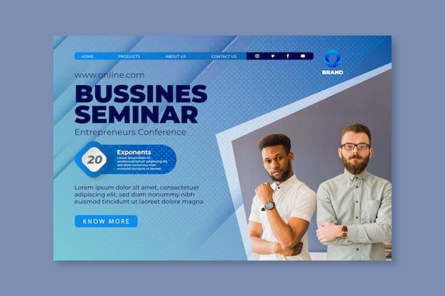Sjabloon voor algemene zakelijke seminarie bestemmingspagina