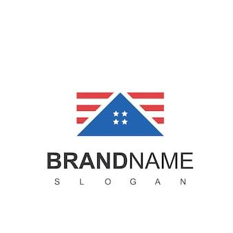 Sjabloon voor amerikaans huis onroerend goed logo