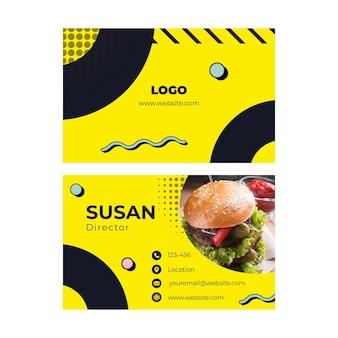 Sjabloon voor amerikaans voedsel visitekaartjes