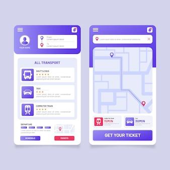 Sjabloon voor app voor openbaar vervoer