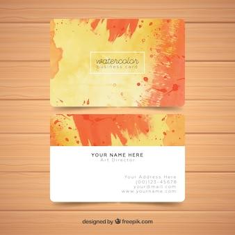 Sjabloon voor aquarel abstracte visitekaartjes
