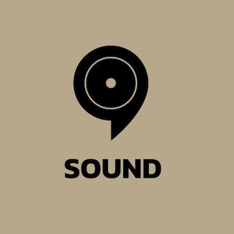 Sjabloon voor audiovisueel bedrijfslogo, huisstijlontwerpvector, geluidstekst