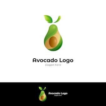 Sjabloon voor avocado-logo