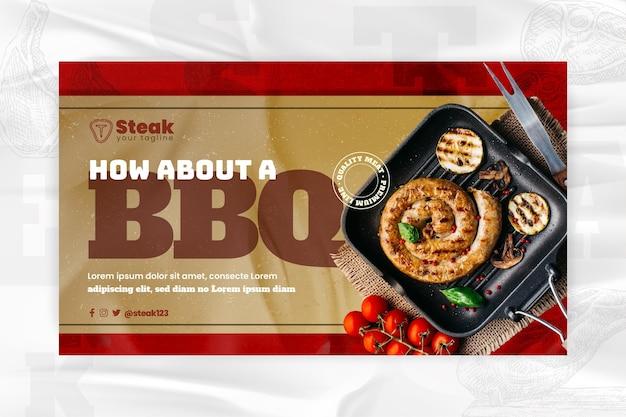 Sjabloon voor barbecue horizontaal spandoek