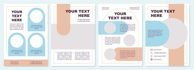 Sjabloon voor bedrijfsbrochures. feature verhalen op het bedrijfsleven. flyer, boekje, folder afdrukken, omslagontwerp met kopieerruimte. jouw tekst hier. vectorlay-outs voor tijdschriften, jaarverslagen, reclameposters Premium Vector
