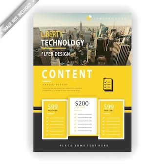 Sjabloon voor bedrijfstechnologie folder