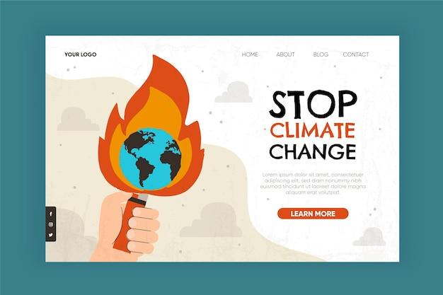 Sjabloon voor bestemmingspagina klimaatverandering