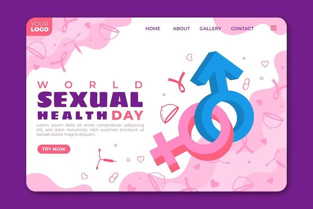 Sjabloon voor bestemmingspagina's van de wereld seksuele gezondheidsdag
