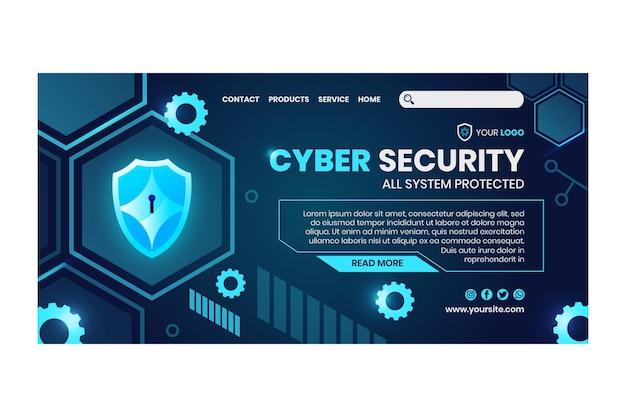 Sjabloon voor bestemmingspagina's voor cyberveiligheid