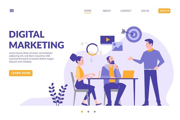 Sjabloon voor bestemmingspagina's voor digitale marketing