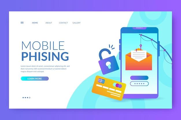 Sjabloon voor bestemmingspagina's voor mobiele phishing