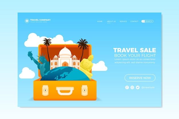 Sjabloon voor bestemmingspagina's voor reizen