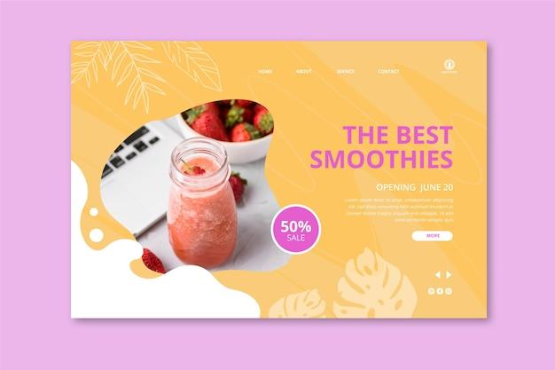 Sjabloon voor bestemmingspagina's voor smoothies