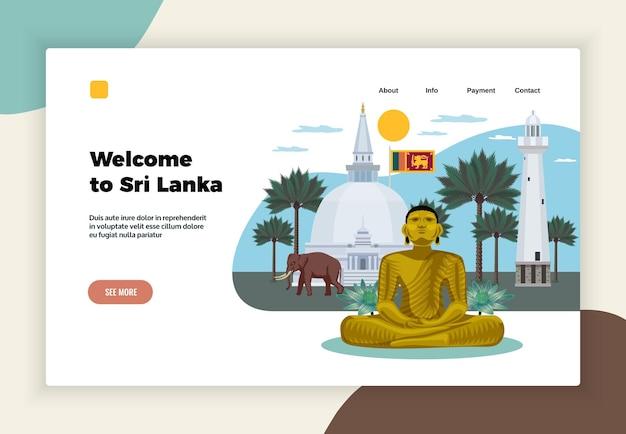 Sjabloon voor bestemmingspagina's voor toerisme in sri lanka