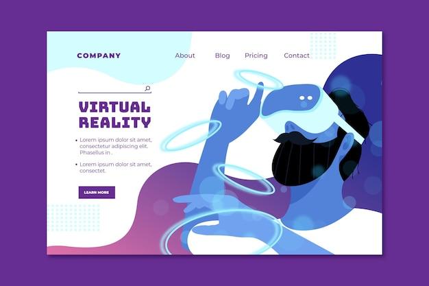 Sjabloon voor bestemmingspagina's voor virtuele realiteit