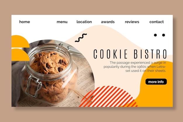 Sjabloon voor bestemmingspagina voor cookies