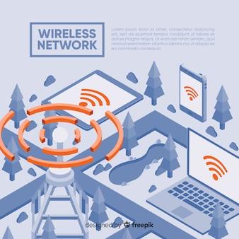 Sjabloon voor bestemmingspagina voor draadloos netwerk