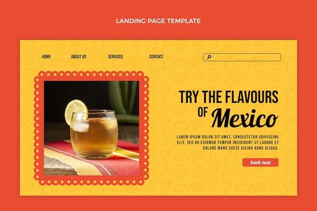 Sjabloon voor bestemmingspagina voor drankjes met plat ontwerp