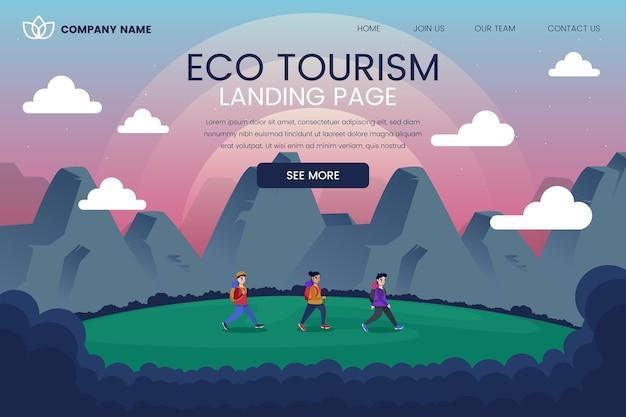 Sjabloon voor bestemmingspagina voor ecotoerisme