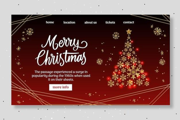 Sjabloon voor bestemmingspagina voor kerstfeest