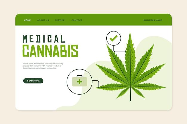 Sjabloon voor bestemmingspagina voor medicinale cannabis