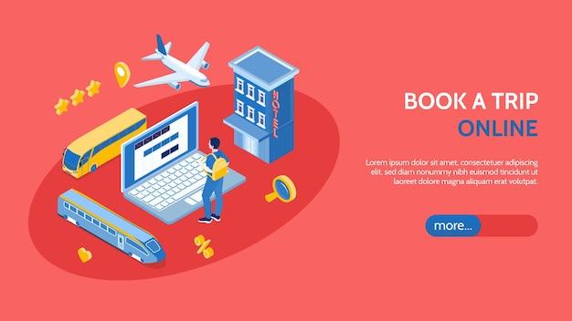 Sjabloon voor bestemmingspagina voor online boeken