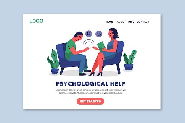 Sjabloon voor bestemmingspagina voor psychologische hulp