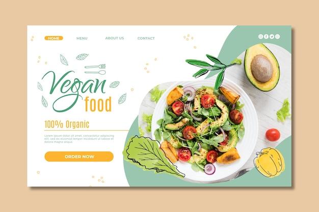 Sjabloon voor bestemmingspagina voor veganistisch eten