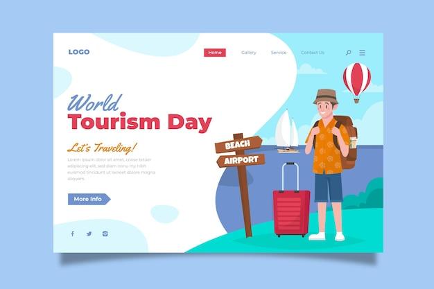 Sjabloon voor bestemmingspagina voor wereldtoerisme