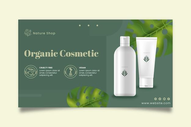 Sjabloon voor biologische cosmetische spandoek