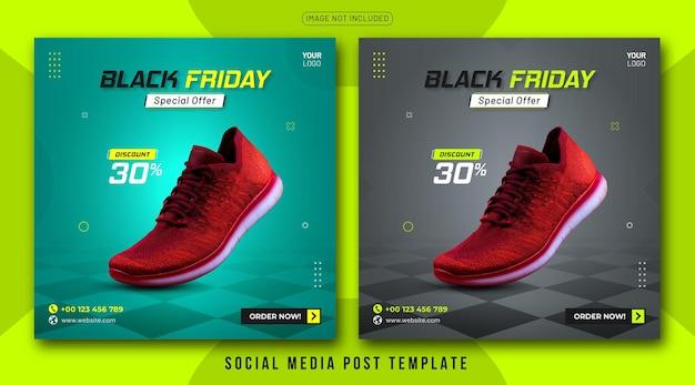 Sjabloon voor black friday-berichten voor sociale media