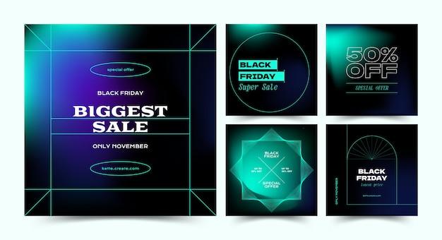 Sjabloon voor black friday instagram-post vector