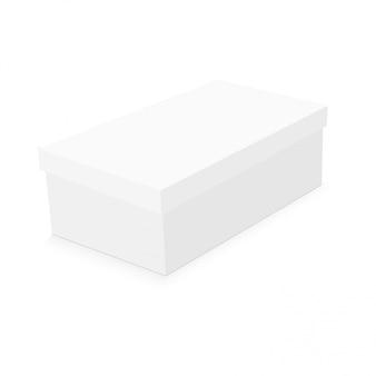 Sjabloon voor blanco papier of karton schoenendoos.