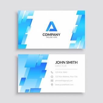 Sjabloon voor blauw abstract visitekaartjes