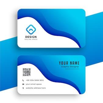 Sjabloon voor blauw bedrijf visitekaartjes
