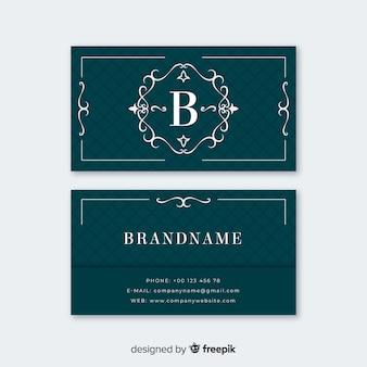 Sjabloon voor blauw elegante visitekaartjes