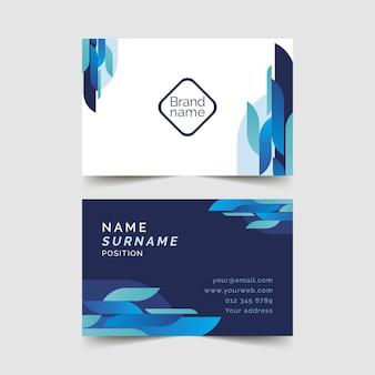 Sjabloon voor blauw visitekaartjes