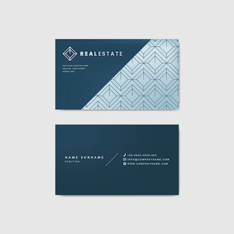 Sjabloon voor blauwe zakelijke visitekaartjes