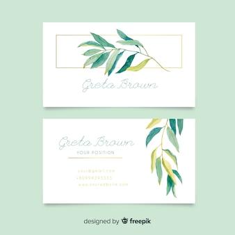 Sjabloon voor bloemen visitekaartjes