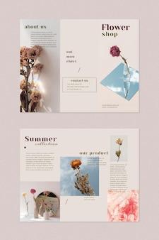 Sjabloon voor bloemenwinkelbrochure