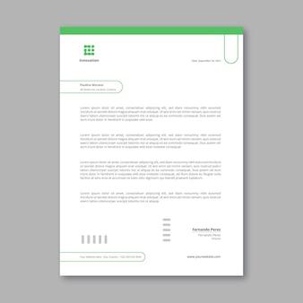 Sjabloon voor briefpapier voor marketingzaken