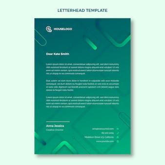 Sjabloon voor briefpapier voor onroerend goed
