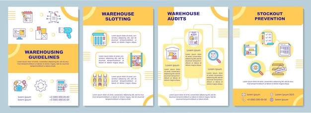 Sjabloon voor brochure met magazijnrichtlijnen
