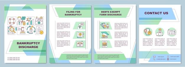 Sjabloon voor brochure over faillissementen