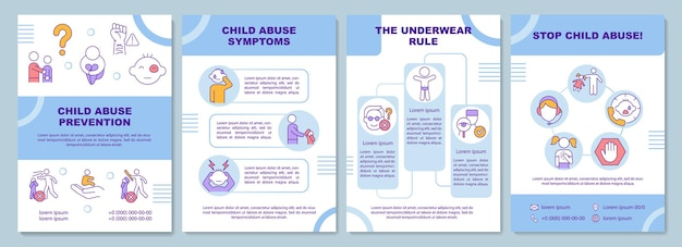 Sjabloon voor brochure over preventie van kindermishandeling